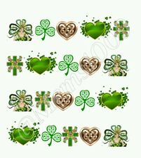 St. Patrick's Day Nail Art Waterslide Decals St Pattys Day Nail Art