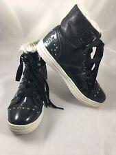 Osiris Girls Sneakers Shoes High Top Venezia Black White Faux Fur Lining Size 5