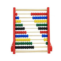 Wooden Bead Abacus Counting Frame Educational Learn Maths Kids Toy 20cm #HD3
