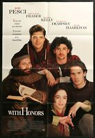1994 WITH HONORS Joe Pesci Patrick Dempsey ONE SHEET MOVIE POSTER 27 x 41 1