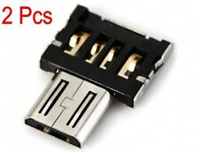 2 x Micro USB Male to USB Female OTG Adapter Converter Fit Android Tablet Phone