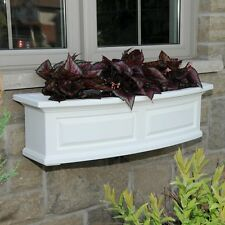 Mayne 3 Ft. Nantucket Window Box In White Planter Herb Flower Home Decor New G