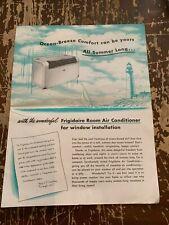 1951 Frigidaire Air Conditioner Catalog Central Electric Co Davenport Iowa