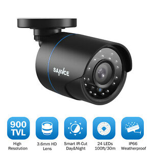 SANNCE 900TVL Home Outdoor Security Bullet Camera Night Vision CCTV Surveillance