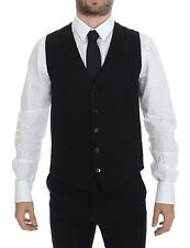 NWT $400 DOLCE & GABBANA Black Cotton Dress Vest Blazer Jacket IT48 / US38 / M
