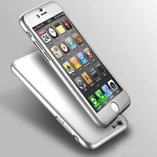 Case/cover Apple iPhone 5 5s SE Tempered Glass Screen Protector / 360 Sleeve Silver