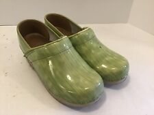 Dansko 36 Clogs US 5.5/6 Patent Leather Green Nursing Professional Shoes