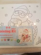 Canvas Painting Kit Santa Claus Christmas