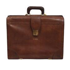 Vintage Renwick Aktenkoffer Briefcase Harness Leather Braun Made in Canada Leder