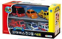 Little Bus TAYO's Friends Mini Car Toys 6pcs - Pat,Nuri,Frank,Alice,Toto,Cito