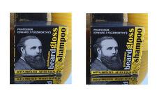 2x fuzzworthy para hombre Barba Bigote Shampoo Lavado Cuidado Acondicionador 100% Natural