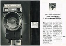 PUBLICITE advertising  1980   CANON   caméra AF 514 XLS    éléctronique (2p)