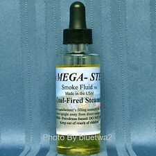 Mega Steam COAL-FIRED STEAMER Smoke Fluid For Lionel O G O27 HO N Gauge Signal