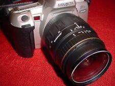 MINOLTA MAXXUM STsi 35 MM SLR W/ 28-80MM TELEPHOTO LENS PLUS
