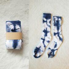 Nike Custom Tie Dye Socks SHIBORI blue COTTON