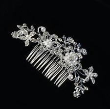 Flor de Cristal Perlas Slide Agarre Boda Pasadores para Pelo Clips Accessorios
