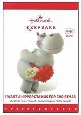 2015 Hallmark I Want a Hippopotamus for Christmas Sound Magic Ornament!