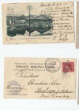 Wa89/ Philippinen Ansichtskarte Einzelfrankatur oo 1905