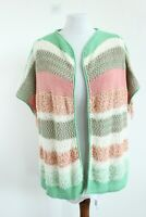 Diesel BNWT RRP 220 Multicolored Short Sleeve Knitted Cardigan Size 1 EU XS