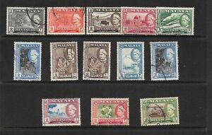 Malaya States Selangor 1957 set fine used