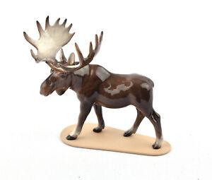Hagen-Renaker Miniature Porcelain Moose On Base #03137