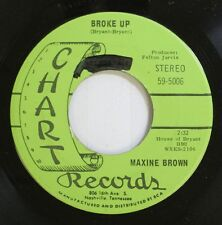 Country Nm! 45 Maxine Brown - Broke Up / I'M In The Arms Of A Heartache On Chart