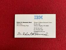 "Dr. Robert H. Dennard, Ph.D.,""Autographed"" Business Card (Inventor) Scarce (Ibm)"