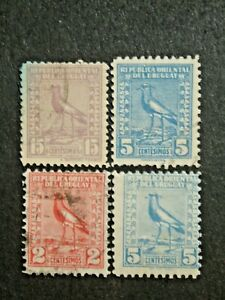 URUGUAY 4 USED STAMPS SC # 293 / 321