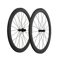 23 Wide 55mm Straight pull  Black Matt Carbon Clincher Wheelset 700C Road Bike