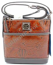 New Disney Dooney & Bourke Vacation Club Sketch Leather Crossbody Letter Carrier