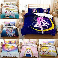 Sailor Moon Bedding Set 3PCS Duvet Cover Pillowcases Comforter Cover US Size