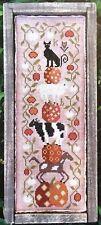 Halloween on the Farm Folk Art Kathy Barrick Cross Stitch Pattern