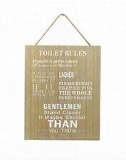 Vintage/Retro Rectangle Toilet Decorative Plaques & Signs