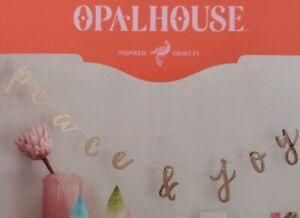 Target Opal House Peace & Joy Gold Tone Metal 6 Feet Holiday Banner Decor