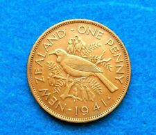 1941 New Zealand Penny - Key Date - Extremely Nice Coin - See Pictures