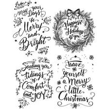 Stampers Anonymous Tim Holtz Stamps Doodle Greetings #1 Christmas CMS285