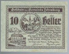Notgeld - Österreich - Gemeinde Lohnsburg - 10 Heller - 1920