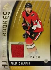 2017-18 sp game used hockey Filip Chlapik authentic rookies jersey