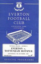 Everton V Tottenham Hotspur  Div 1 1965    Cheapest On eBay  (see pics)
