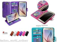 Flip Stand Card Wallet Leather Case Cover For Samsung Galaxy S6 & S6 Edge & S5