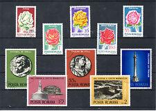 Rumania Flores Arqueologia valores del año 1971-75 (BR-937)