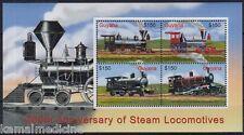 Guyana 2004 MNH SS, Steam Locomotives, Train, Railways, Engines  -S52