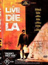 To Live And Die In LA DVD -William L Petersen 1980s R18+ Movie RARE R4 Aust