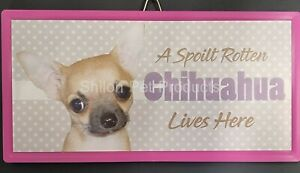 Chihuahua Smooth - Spoilt rotten pet sign