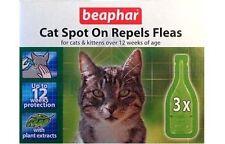 Beaphar Herbal Flea 12 Week Drops Spot On Treatment for Cats Kittens Repel Fleas