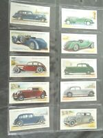 1937  MOTOR CARS vintage vehicle autos series 2 set 50 cards Tobacco Cigarette