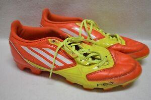 Adidas TRX FG F-50 Mens Fluoro Yellow & Orange Football/Soccer Boots Size US 8