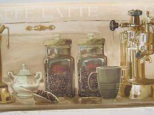 "COFFEE CAFE ESPRESSO Wallpaper Border 9"""