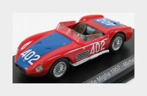 Maserati 150S Spider #402 Mille Miglia 1957 Michel Red Edicola 1:43 MASCOL058
