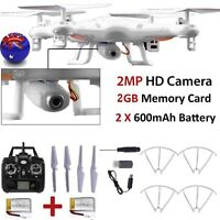 X5C-1 2.4GHz 4CH 6 Axis RC Quadcopter Drone RTF With HD Camera + 2PC Battery AU
